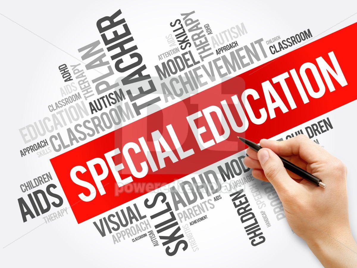 Special Education word cloud collage education concept backgrou, 05920, Business — PoweredTemplate.com