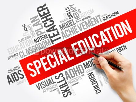 Business: Special Education word cloud collage education concept backgrou #05920