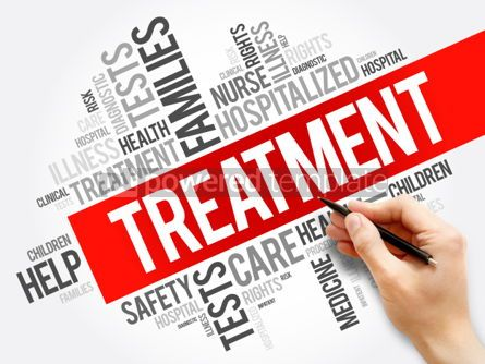 Business: Treatment word cloud collage health concept background #05921