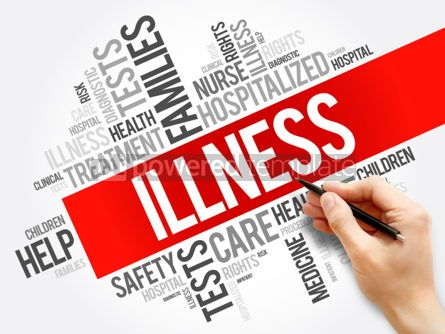 Business: ILLNESS word cloud collage health concept background #05924