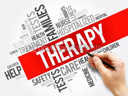 Business: Therapy word cloud collage health concept background #05925