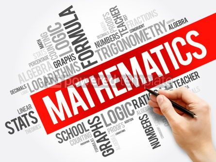 Business: Mathematics word cloud collage education concept background #05926