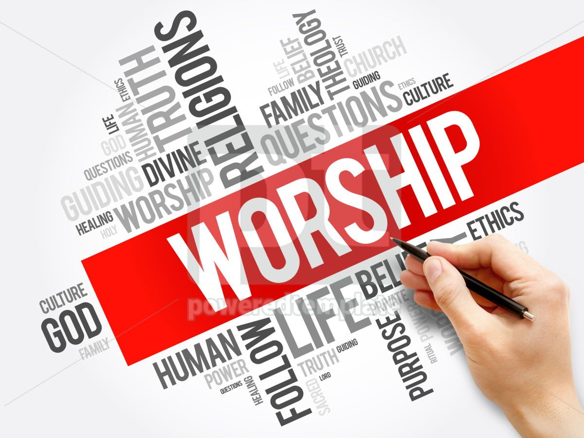 Worship word cloud collage social concept background, 05927, Business — PoweredTemplate.com