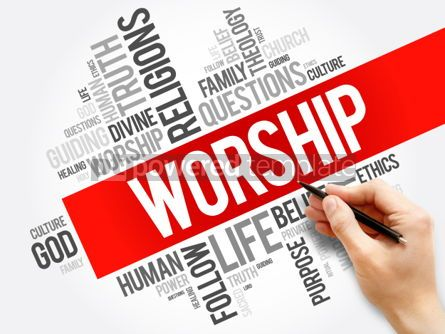 Business: Worship word cloud collage social concept background #05927