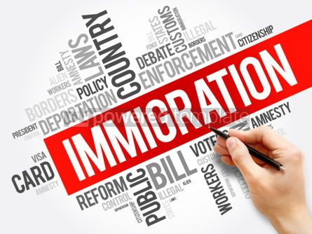 Business: Immigration word cloud collage  social concept background #05928