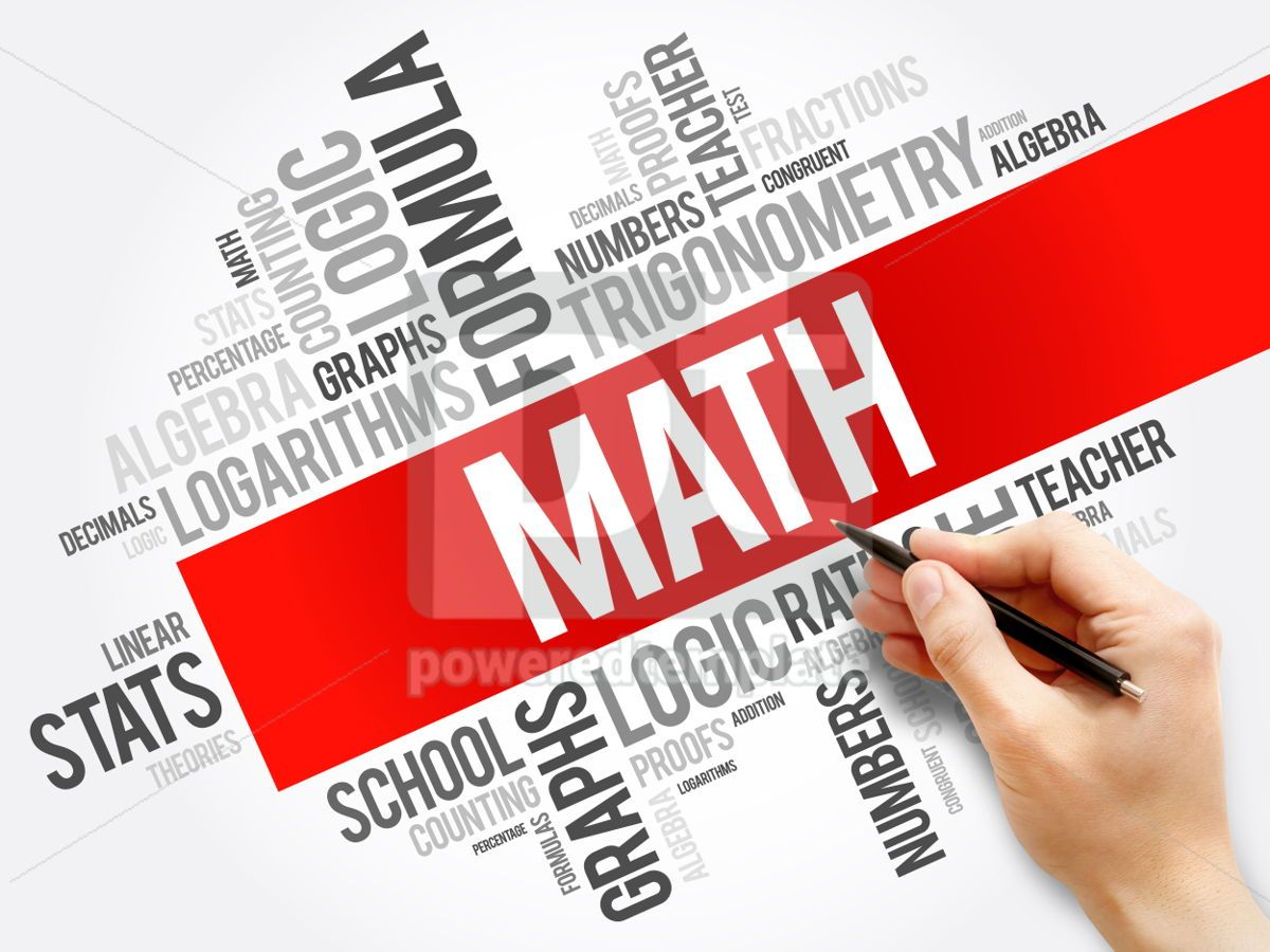 Math word cloud collage education concept background, 05929, Business — PoweredTemplate.com