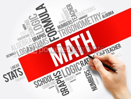 Business: Math word cloud collage education concept background #05929