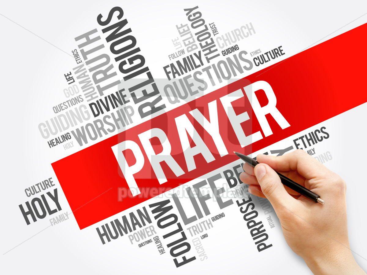 Prayer word cloud collage religion concept background, 05931, Business — PoweredTemplate.com