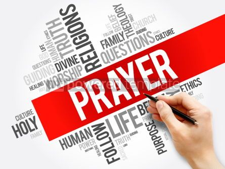 Business: Prayer word cloud collage religion concept background #05931