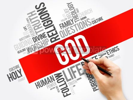Business: GOD word cloud collage religion concept background #05932