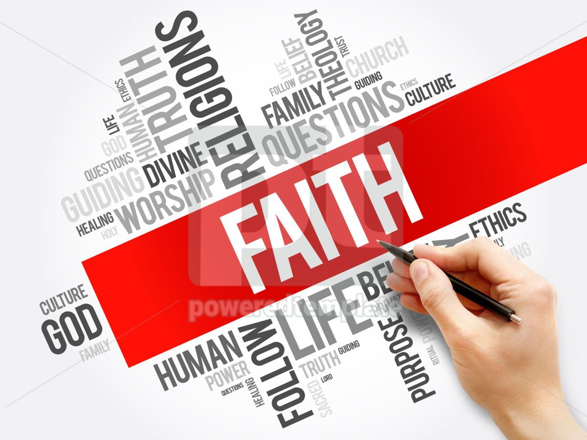 Faith word cloud collage  social concept background, 05934, Business — PoweredTemplate.com