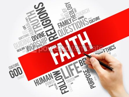 Business: Faith word cloud collage  social concept background #05934