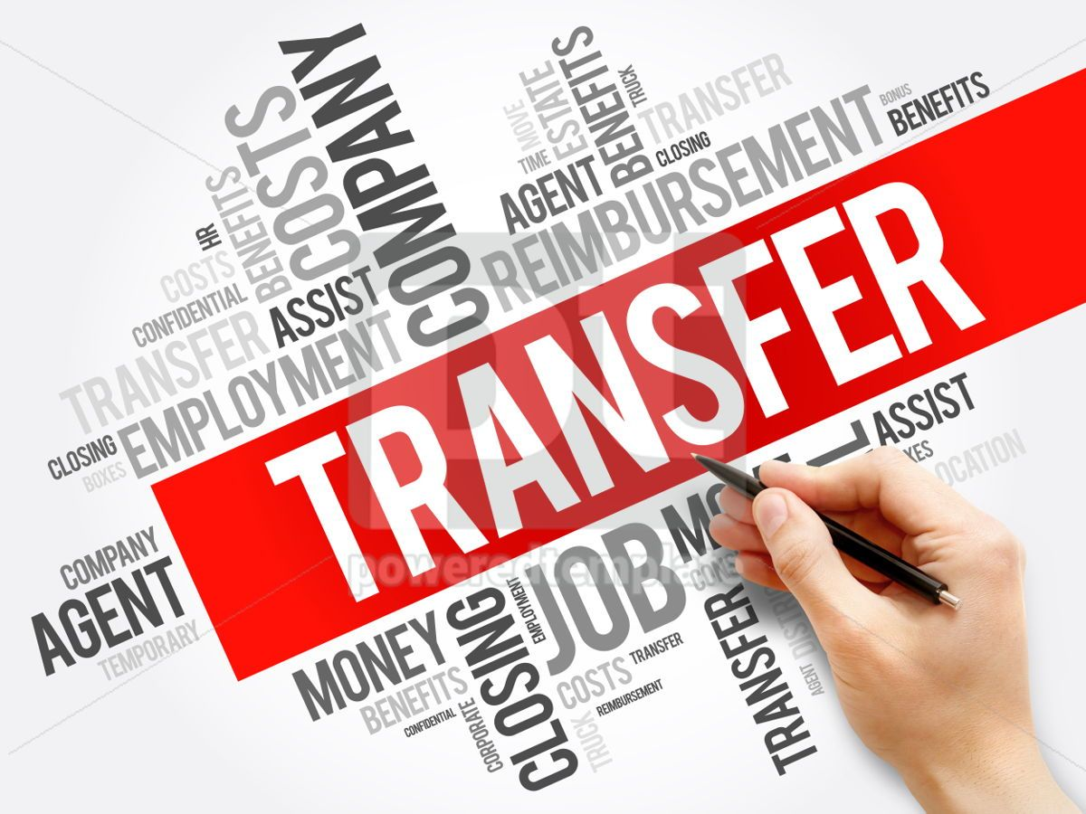 Transfer word cloud collage business concept background, 05937, Business — PoweredTemplate.com