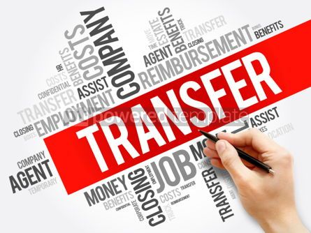 Business: Transfer word cloud collage business concept background #05937