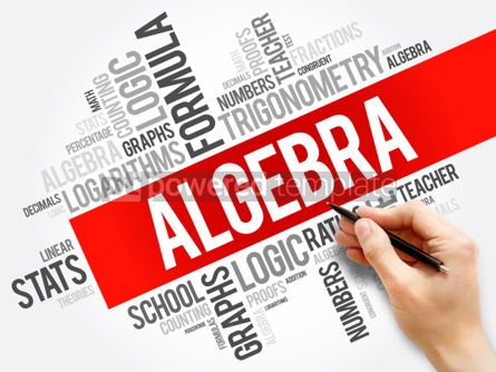 Business: Algebra word cloud collage education concept background #05938