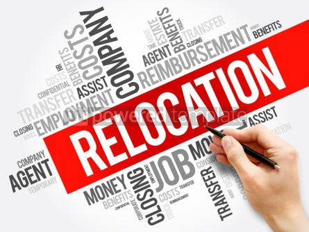Business: Relocation word cloud collage business concept background #05939