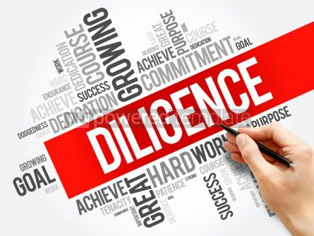 Business: Diligence word cloud collage business concept background #05941