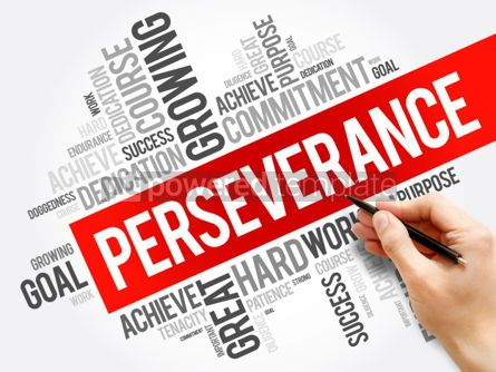 Business: Perseverance word cloud collage business concept background #05942