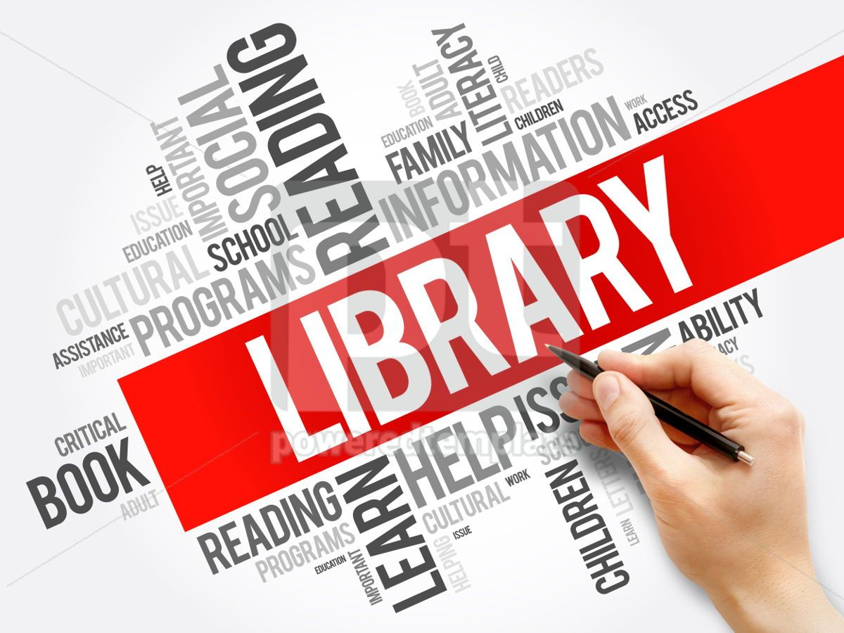 Library word cloud collage education concept background, 05945, Business — PoweredTemplate.com