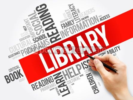 Business: Library word cloud collage education concept background #05945