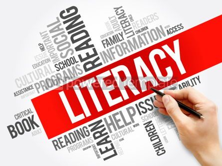 Business: Literacy word cloud collage education concept background #05946