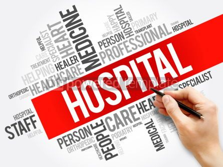 Business: Hospital word cloud collage healthcare concept background #05947