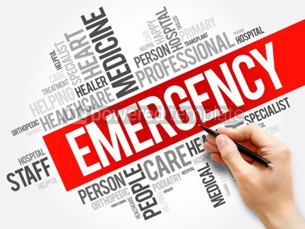 Business: Emergency word cloud collage healthcare concept background #05949