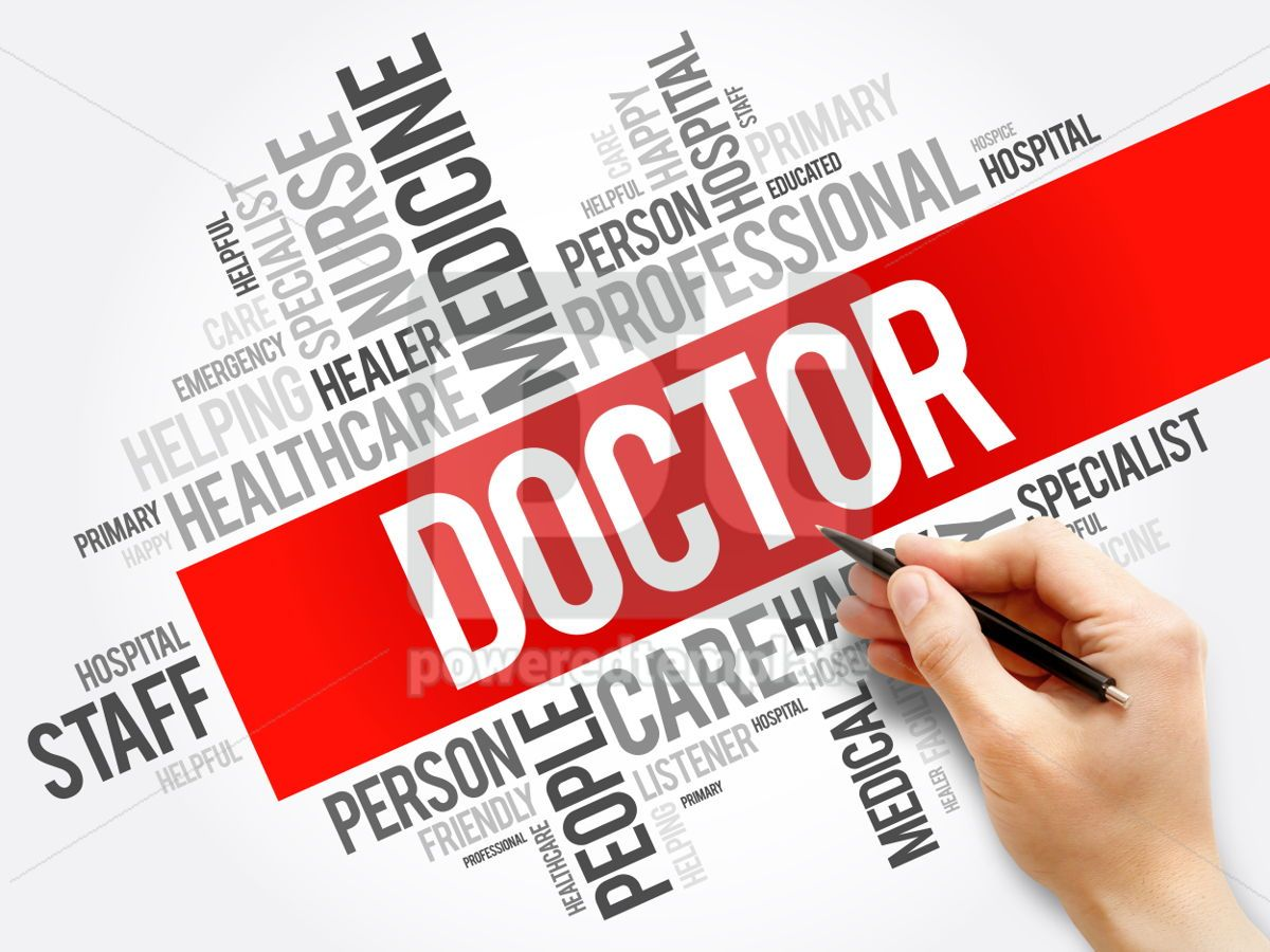 Doctor word cloud collage healthcare concept background, 05951, Business — PoweredTemplate.com