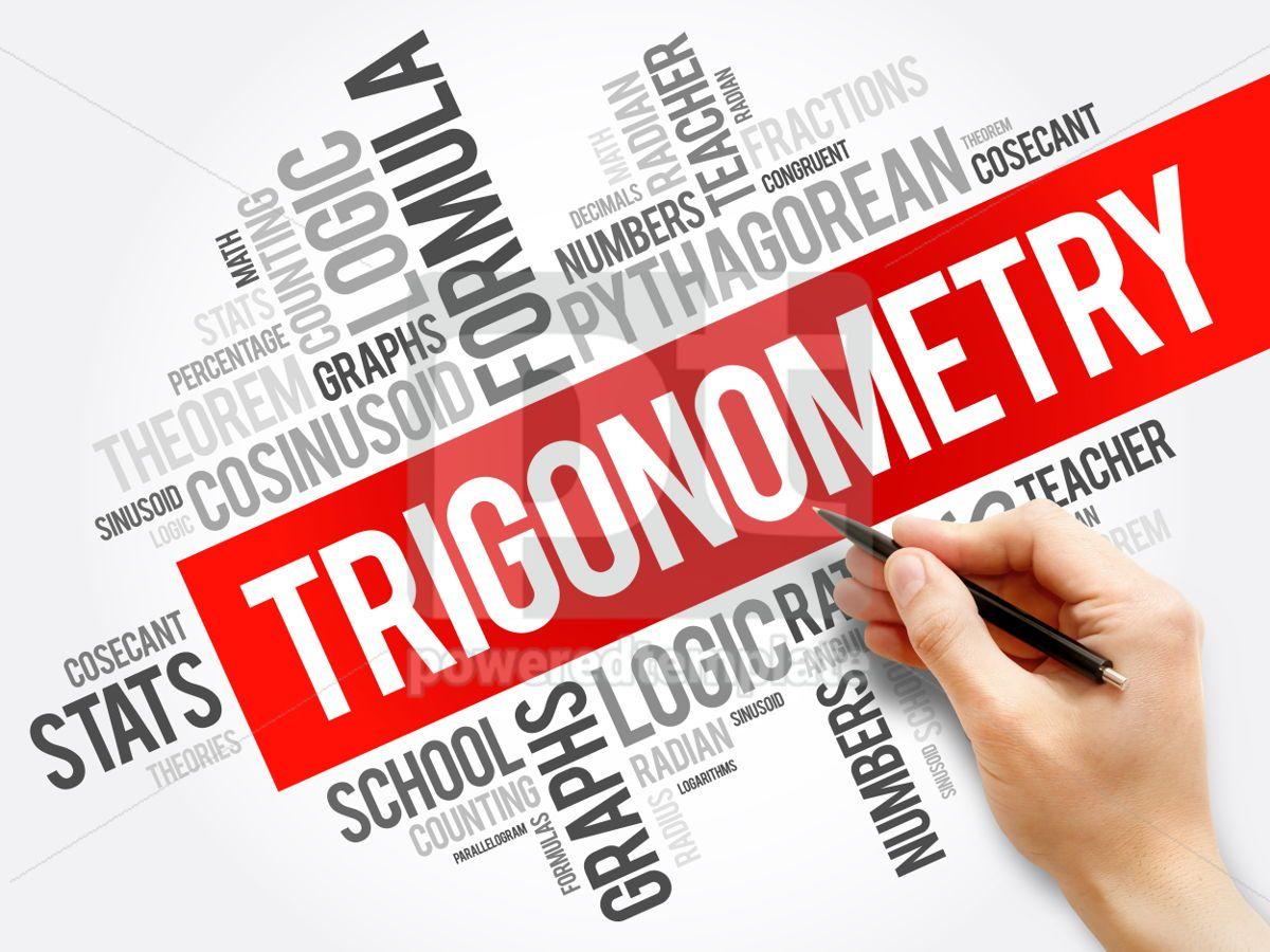 Trigonometry word cloud collage education concept background, 05952, Business — PoweredTemplate.com