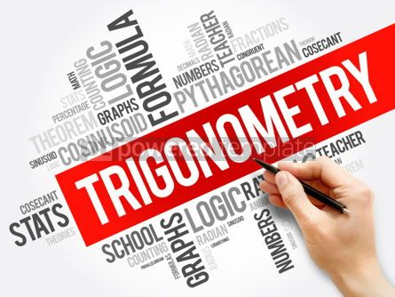 Business: Trigonometry word cloud collage education concept background #05952
