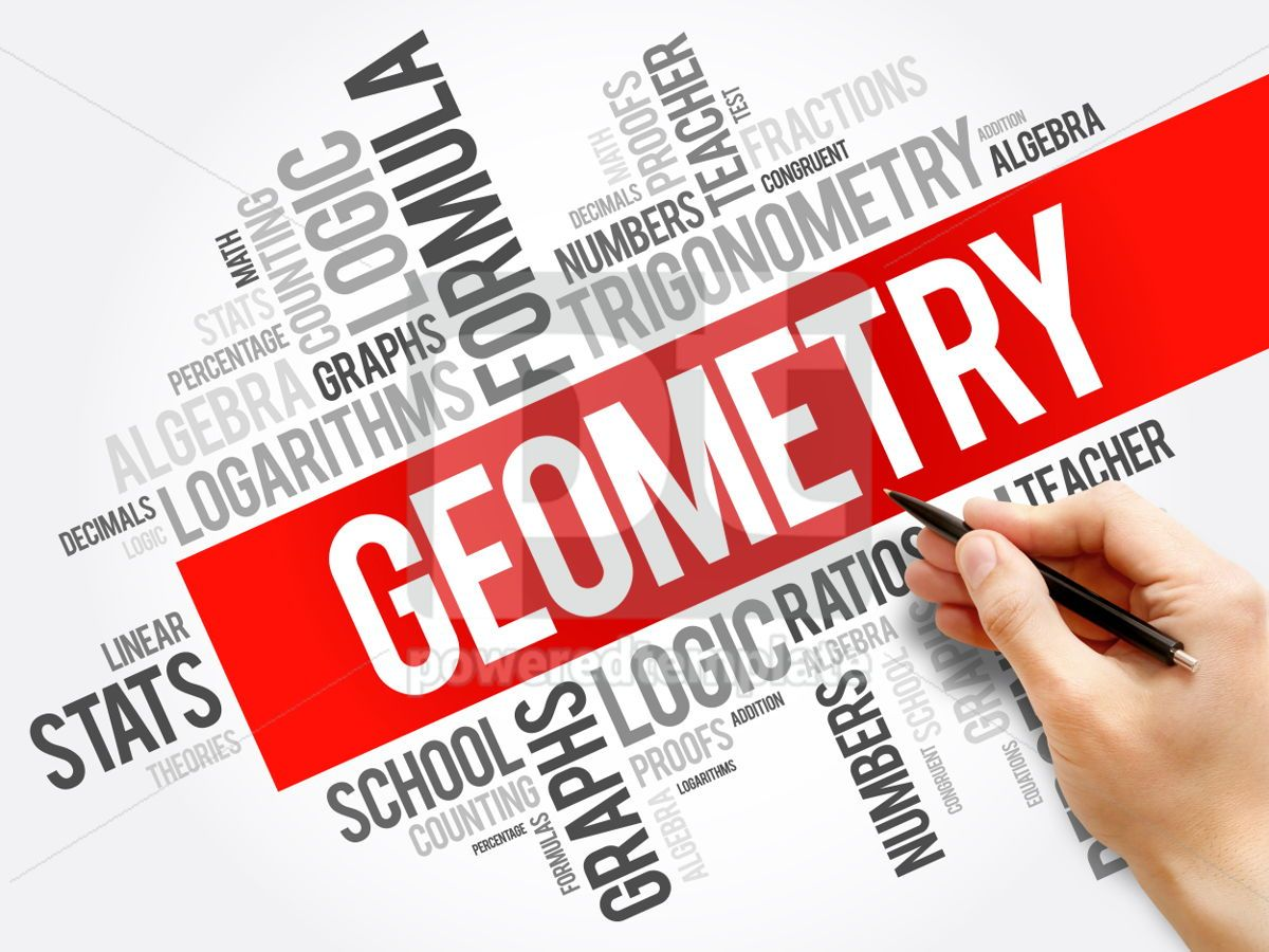 Geometry word cloud collage education concept background, 05954, Business — PoweredTemplate.com