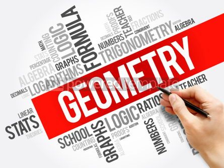 Business: Geometry word cloud collage education concept background #05954