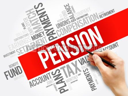 Business: Pension word cloud collage social concept background #05957