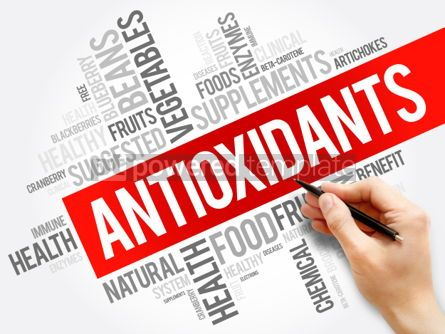 Business: Antioxidants word cloud collage health concept background #05958