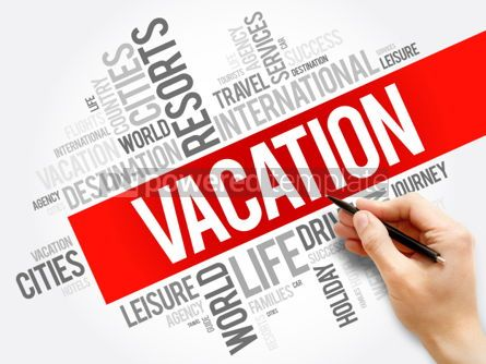 Business: Vacation word cloud collage travel concept background #05962