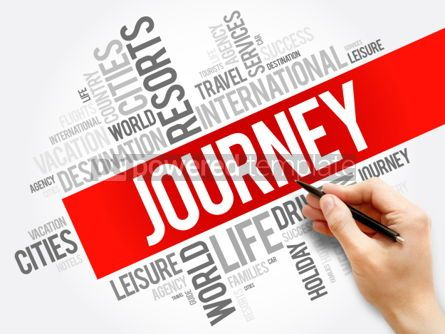 Business: Journey word cloud collage travel concept background #05963