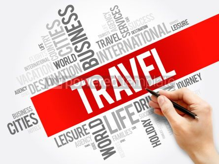 Business: TRAVEL word cloud collage travel concept background #05964