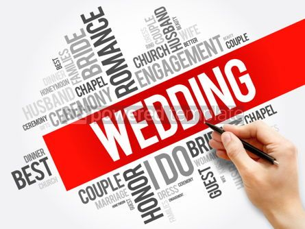 Business: Wedding word cloud collage social concept background #05966