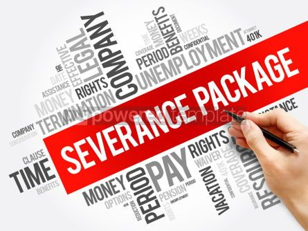 Business: Severance package word cloud collage  social concept background #05980