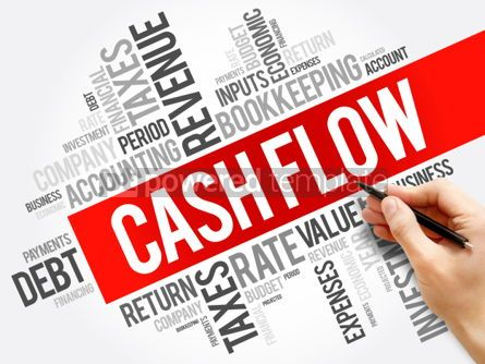 Business: Cash Flow word cloud collage business concept background #05985