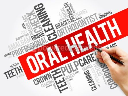 Business: Oral health word cloud collage dental concept background #05988