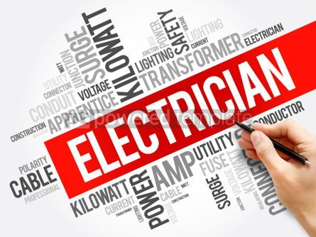 Business: Electrician word cloud collage concept background #05992