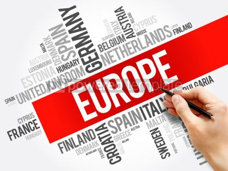 Business: Europe List of cities word cloud collage travel concept backgro #05993