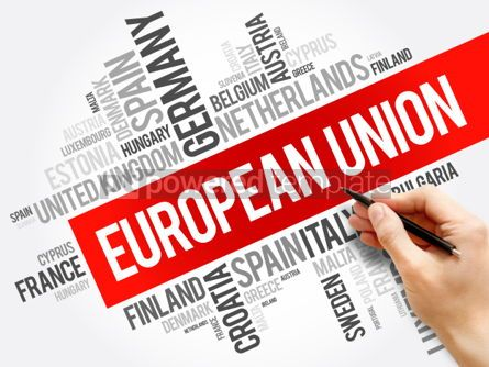 Business: European Union List of cities word cloud collage concept backgr #05994