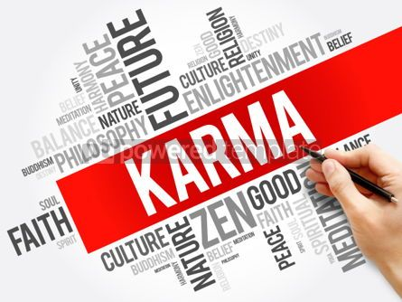 Business: Karma word cloud collage religion concept background #05995