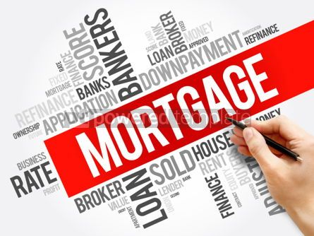 Business: MORTGAGE word cloud collage business concept background #05998