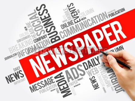 Business: Newspaper word cloud collage business concept background #06000