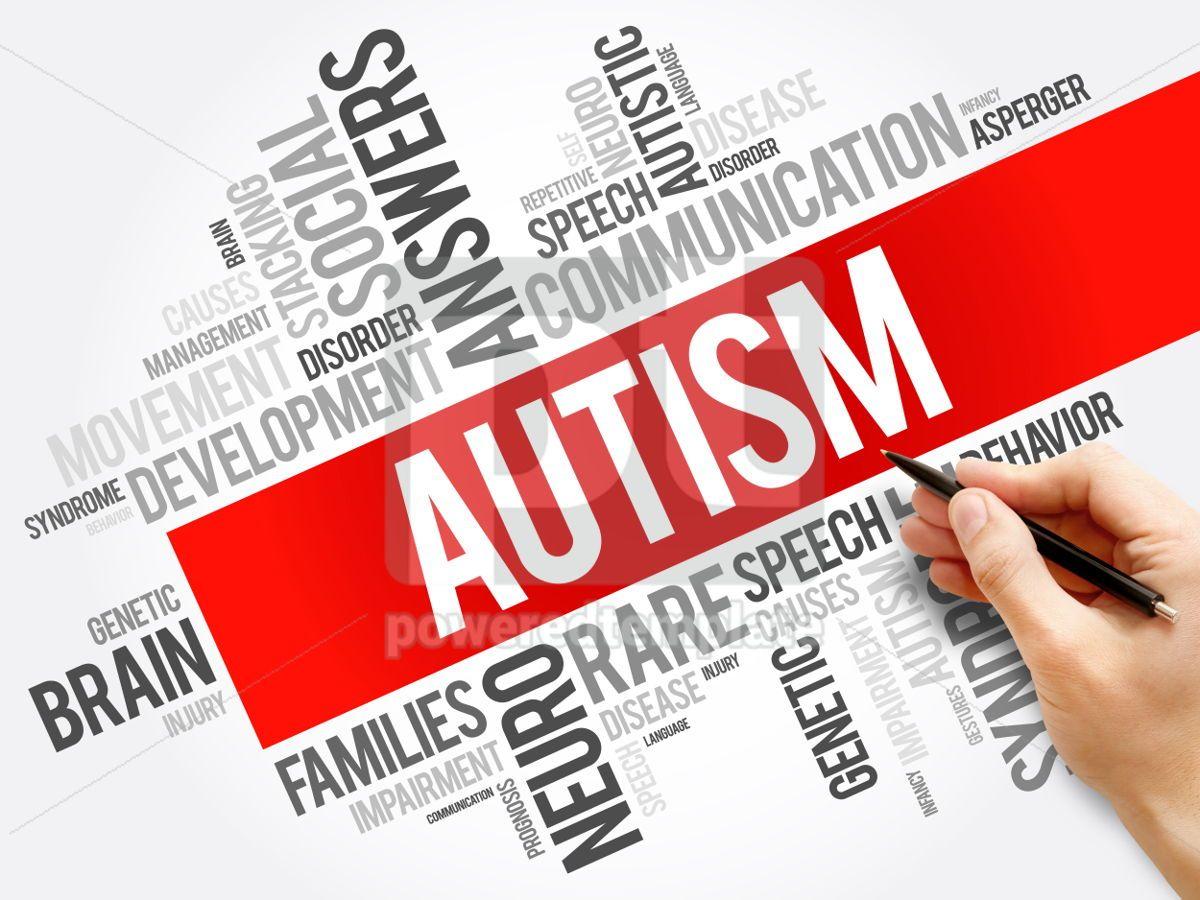 Autism word cloud collage health concept background, 06001, Business — PoweredTemplate.com