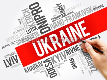 Business: List of cities in Ukraine word cloud collage business and trave #06006