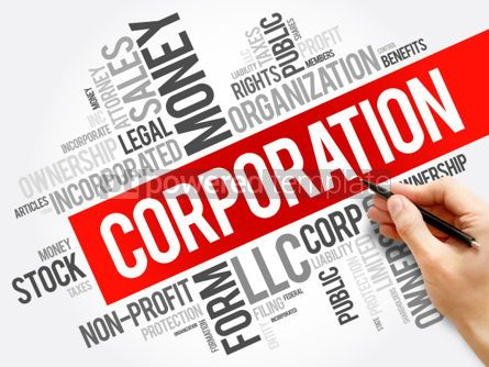 Business: Corporation word cloud collage business concept background #06007